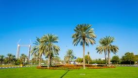 Rotonda nel distretto di Zabeel del Dubai immagini stock libere da diritti