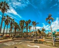 Rotonda nel lungonmare di Santa Barbara fotografia stock