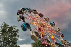 Rotonda in parco di divertimenti immagine stock libera da diritti
