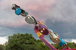 Rotonda in parco di divertimenti immagini stock