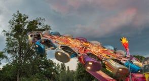 Rotonda in parco di divertimenti fotografia stock libera da diritti