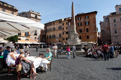 Rotonda square in Rome Stock Photography
