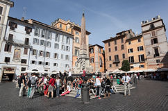 Rotonda square in Rome Stock Photo
