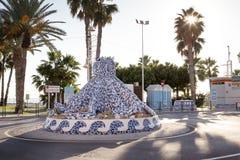 Rotonde in Almunecar Spanje stock afbeeldingen