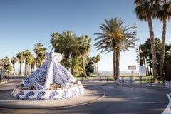Rotonde in Almunecar Spanje stock afbeelding