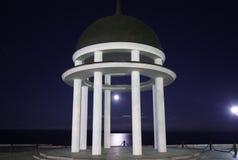 Rotonde bij nacht Stock Foto's