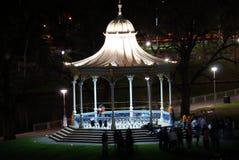 Rotonde bij Nacht Royalty-vrije Stock Afbeeldingen
