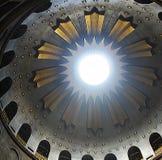 Rotonde boven Edicule in de Kerk van het Heilige Grafgewelf, het graf van Christus, in de Oude Stad van Jeruzalem, Israël royalty-vrije stock foto's