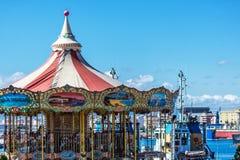 Rotonde in de haven van Malaga, Spanje stock foto's