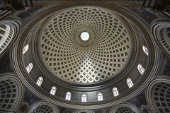Rotonde van Mosta - kerk van Veronderstelling van Onze Dame Mosta malta stock afbeeldingen