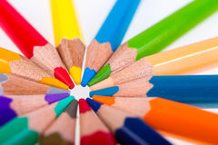 Rotondo dalle matite Immagini Stock