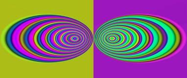 Rotondo e rotondo illustrazione vettoriale