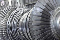 Rotor av en ångaturbin Arkivbild