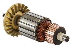 Rotor de plan rapproché de moteur électrique, d'isolement sur le fond blanc Photographie stock libre de droits