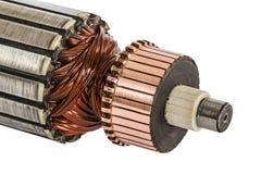 Rotor de plan rapproché de moteur électrique, d'isolement sur le fond blanc Photo stock