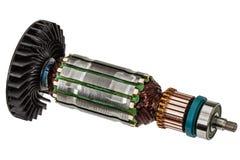 Rotor de plan rapproché de moteur électrique, d'isolement sur le fond blanc Images stock