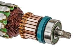 Rotor de plan rapproché de moteur électrique, d'isolement sur le fond blanc Images libres de droits