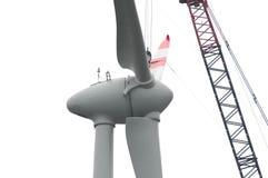Rotor de turbine de vent Photos libres de droits