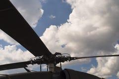 Rotor del helicóptero Fotos de archivo libres de regalías