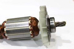 Rotor der Elektromotornahaufnahme, lokalisiert Lizenzfreie Stockfotos