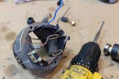Rotor des pièces de rechange de moteur électrique Photos libres de droits