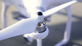 Rotor drones or propeller of quadrocopter stock footage