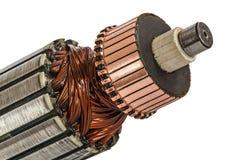 Rotor elektrycznego silnika zakończenie, odosobniony na białym tle obraz stock