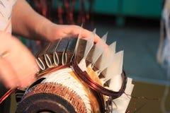 Rotor för elektrisk motor av materielet Royaltyfri Bild