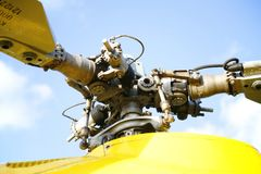 Rotor of rescue helicopter Stock Photo