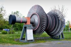 Rotor of a steam turbine Stock Image
