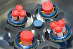 Rotor van centrifuge Stock Foto's