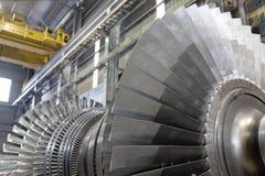 Rotor van een stoomturbine Stock Fotografie