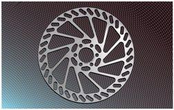 Rotore del freno a disco della bici Fotografia Stock
