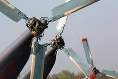 Rotores de cauda de mil. Mi-8 na base da força aérea de Kubinka Fotografia de Stock