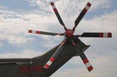 Rotores de cola de un AgustaWestland AW101 Merlin Helicopter Imagen de archivo libre de regalías