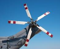 Rotores de cola de un helicóptero de combate Fotografía de archivo libre de regalías