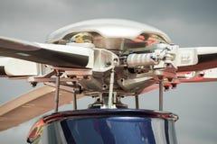 Rotores del helicóptero Imágenes de archivo libres de regalías