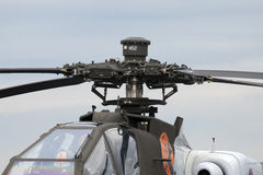 Rotors of a apache helicopter. Royalty Free Stock Image