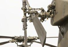 Rotors d'hélicoptère de combat photographie stock