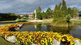 Rotorua-Gärten lizenzfreie stockfotos