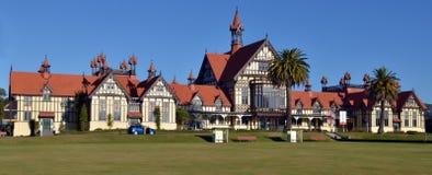 Rotorua konstmuseum och historia - Nya Zeeland Arkivfoto