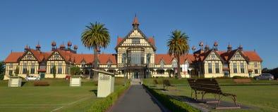 Rotorua konstmuseum och historia - Nya Zeeland Royaltyfri Foto