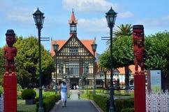 Rotorua konstmuseum och historia - Nya Zeeland arkivbilder