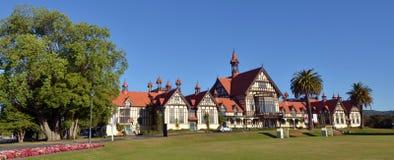 Rotorua konstmuseum och historia - Nya Zeeland fotografering för bildbyråer