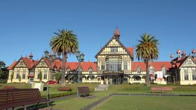Rotorua Museum of Art and History - New Zealand stock video footage