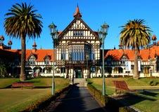 Rotorua museum on a beautiful sunny day Royalty Free Stock Image
