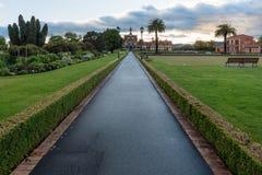 Rotorua museum and garden at sunrise, New Zealand Royalty Free Stock Photography