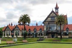 Rotorua museum and garden at sunrise, New Zealand Royalty Free Stock Images