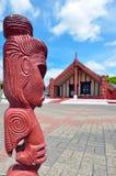 Rotorua - New Zealand. ROTORUA, NZL - JAN 11 2015:Te Papaiouru Marae in, Rotorua, New Zealand.It's one of the most important meeting houses in New Zeland  many Stock Photos