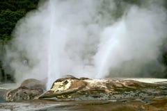 Rotorua New Zealand. Terrestrial heat under cloudy day,Rotorua New Zealand, North Island Royalty Free Stock Photos
